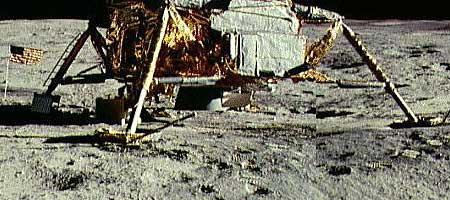 """Панорама места посадки """"Аполлона-14"""" (фрагмент)."""