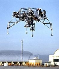 Тренажер лунного модуля LLRV в полете