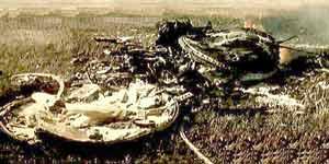 """Место падения корабля """"Союз-1"""". 24 апреля 1967 г."""