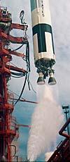 Старт ракеты-носителя «Титан» с кораблем «Джемини-11» 12 сентября 1966 года. Фото NASA 66PC-0261 (фрагмент)